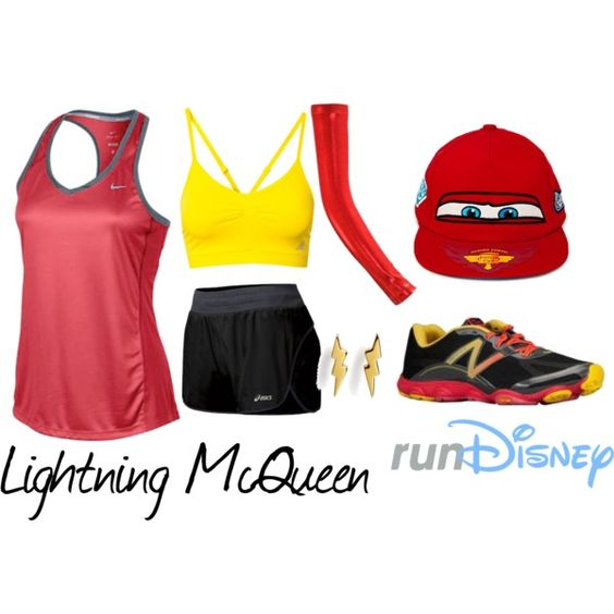 """""""Disney Cars Lightning McQueen Running Outfit"""" by mamaspartydress on Polyvore"""
