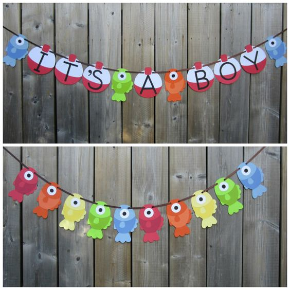 Hey, I found this really awesome Etsy listing at https://www.etsy.com/listing/232203187/its-a-boy-gone-fishing-theme-banner-fish