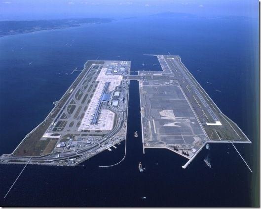 Aeroporto Osaka Renzo Piano : Kansai international airport islands and osaka japan on