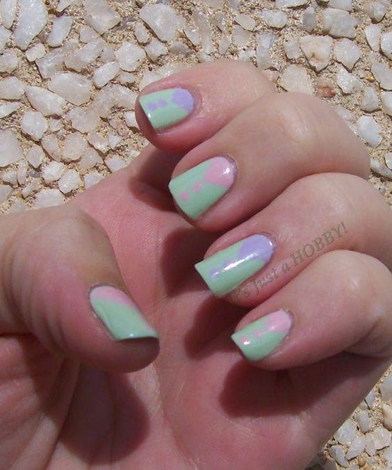 """Drops of Bunny"" - pastel geometrics"