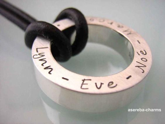 Statement-Ring für Kette (925) personalisierbar von asereba  auf DaWanda.com
