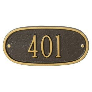 Whitehall One Line Petite Sized Oval Address Plaques by Whitehall. $47.49. About Whitehall Address Plaques For over 60 years, Whitehall Products has been crafting personalized name and address plaques to provide a distinctive finishing touch to millions of homes. Renowned as the world's largest manufacturer of personalized name and address plaques, Whitehall's reputation for quality and reliability is unsurpassed. Few products can add as much value to the curb ...
