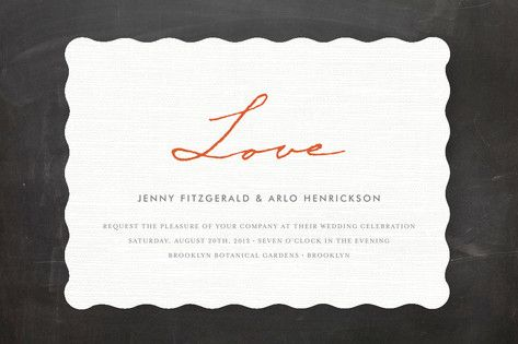 Simply in Love Wedding Invitations by j.bartyn at minted.com