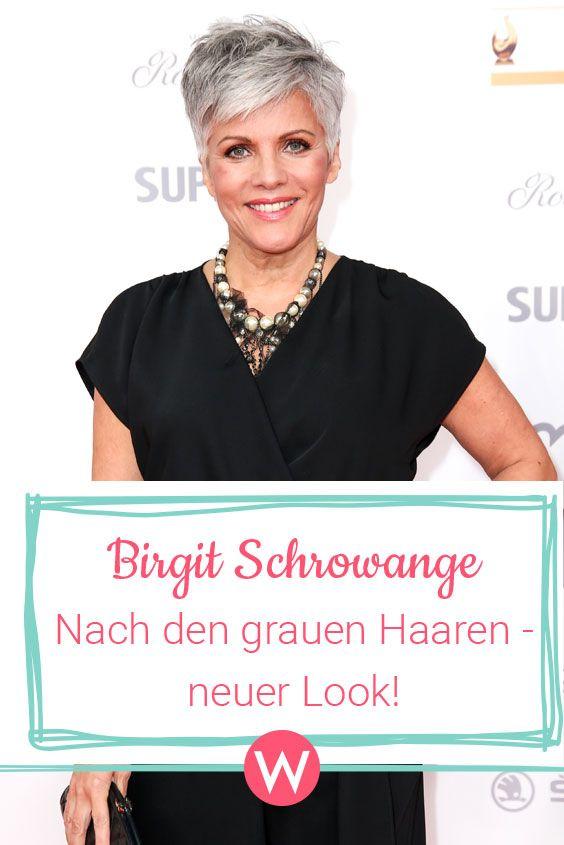 Birgit Schrowange So Gut Sieht Sie Mit Ihrer Neuen Kurzhaarfrisur Aus Frisuren Kurze Graue Haare Kurzhaarfrisuren Kurze Graue Haare
