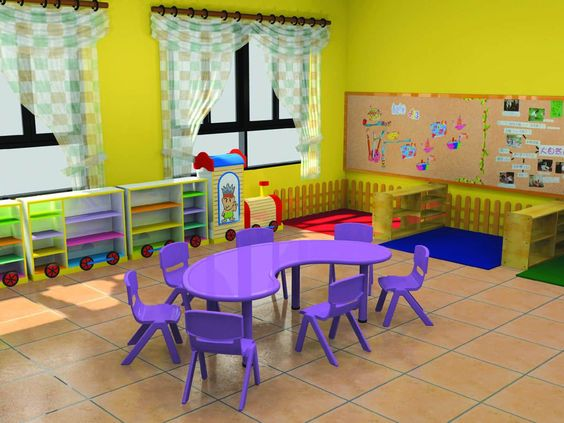 Preschool Classroom Furnitures ~ Table and chairs furniture preschool on pinterest