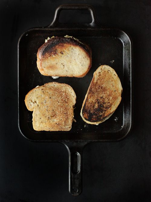 3 grilled cheeses