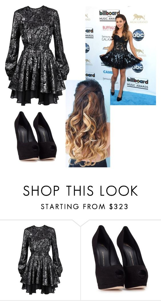 """""""ariana grande"""" by mscalixte ❤ liked on Polyvore featuring Justin Bieber, Just Cavalli and Giuseppe Zanotti"""