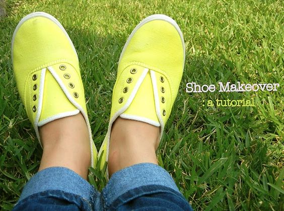 Day 93- Time to craft up cute tennis shoes in our favorite colors.