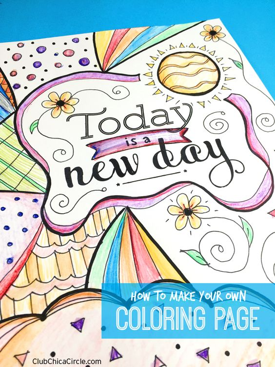 How to Make Your Own Adult Coloring Page Tween DIY Fun