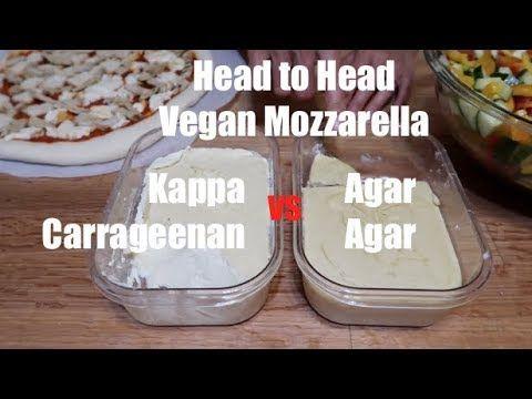 Vegan Mozzarella Carrageenan Like Ricotta Vs Agar Agar Head To Head Vegan Mozzarella Juicing Lemons Vegan