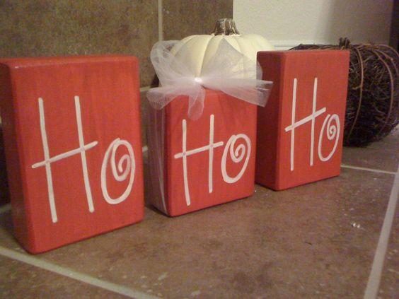 HoHoHo Christmas Blocks. Etsy.