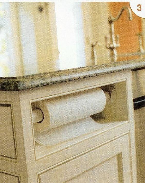 deas for papertowel holder built in kitchen cabinet   Paper Towel ...