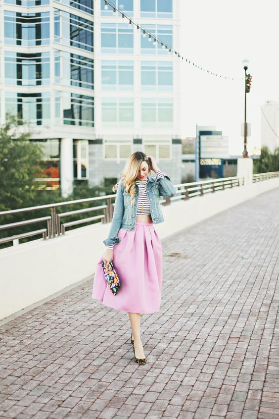 Christmas, Christmas Eve, Radiant Orchid, Tibi, Pink Full Skirt ...
