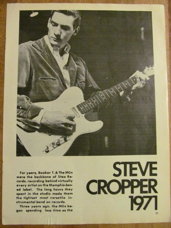 Steve Cropper, Full Page Vintage Clipping