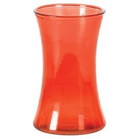 Add a splash of citrus to your living room or bedroom with this spring-ready vase.  Product: VaseConstruction Material: GlassColor: OrangeDimensions: 8 H x 5 Diameter