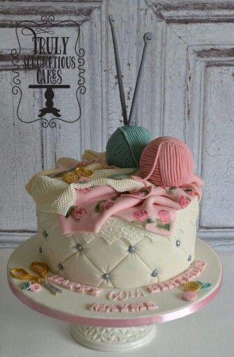 Knitting Cake Designs : Knitting cake fun cakes pinterest costura and