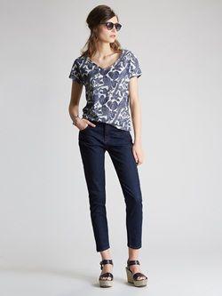 Damen-Slimline-Jeans, 7/8-Länge, Denim
