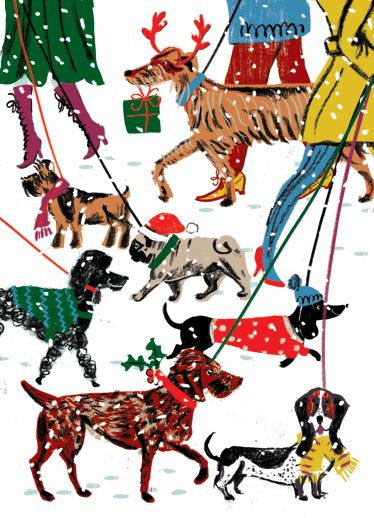 Christmas, dog walkers, Nordic sweaters:
