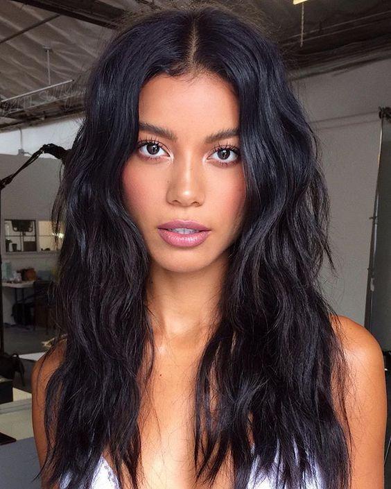 Dark Beach Waves Dark Beach Waves Source By Kortenstein In 2020 Hair Color For Black Hair Hair Color For Women Hair Waves