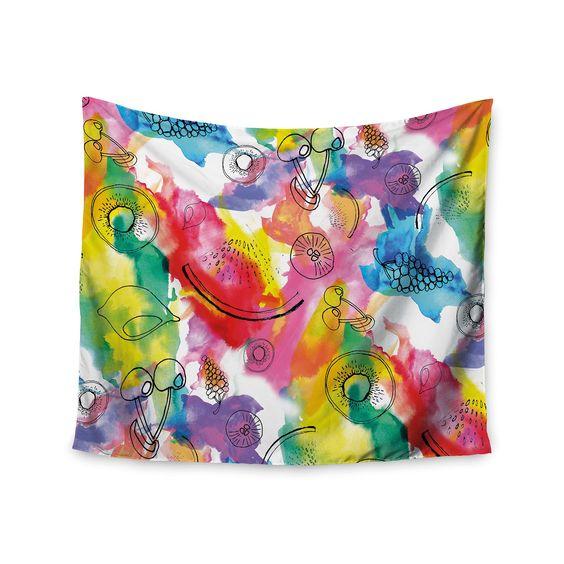 Kess InHouse Danii Pollehn 'Fruits' 51x60-inch Wall Tapestry