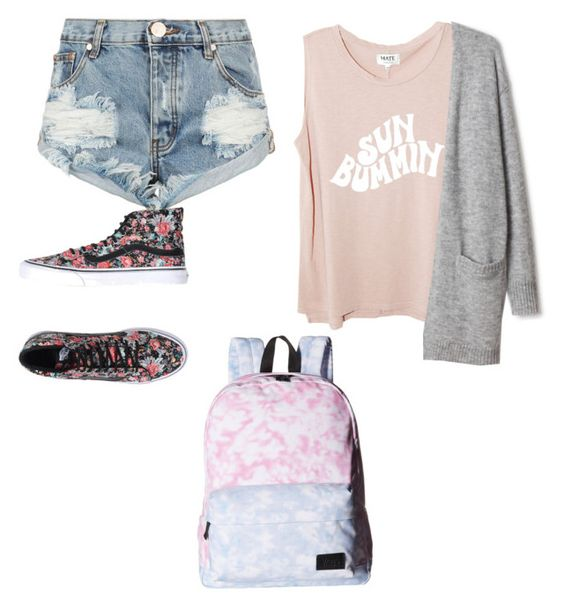 """""""Untitled #102"""" by marvel1 ❤ liked on Polyvore featuring One Teaspoon and Vans"""