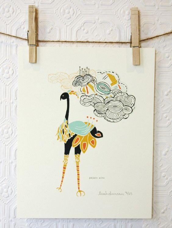 Ostrich print by leah duncan $20