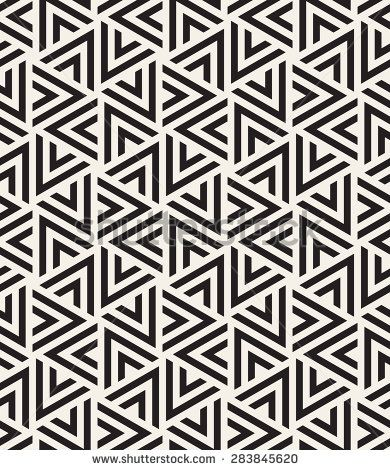 Vector seamless pattern. Modern stylish texture. Repeating geometric tiles with striped triangles. Hipster monochrome print. Trendy graphic design. - stock vector