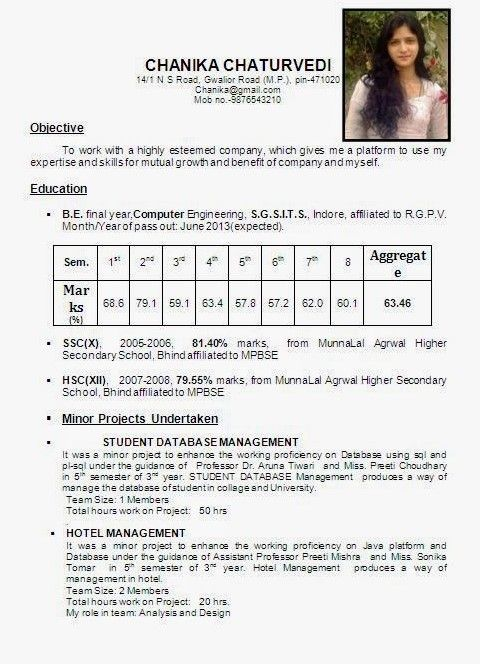 Resume Format 10th Pass Resume Templates Resume Format Best Resume Format Resume