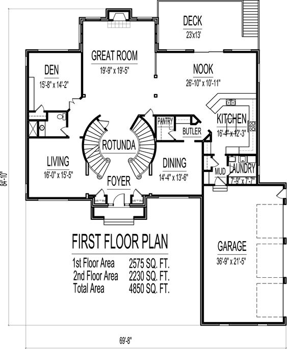 4 bedroom 2 story house plans 4500 sq ft chicago peoria for 4500 sq ft house plans