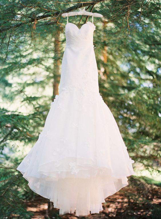 Wedding gown by http://www.alicepadrul.com, Photography by yazyjo.com via http://StyleMePretty.com/2012/04/23/manitowish-waters-wedding-by-yazy-jo
