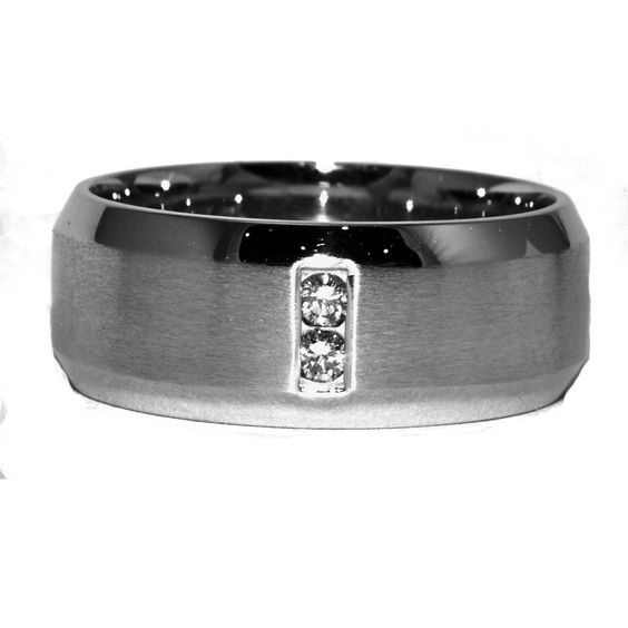 Custom made 14 K White Gold gents Wedding band .  # W092812   #weddingband #band #gentsband  www.windycitydiamonds.com