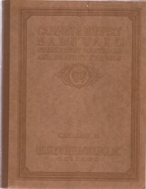 1927 Catalog Cabinet Drapery Hardware Lussky White Coolidge