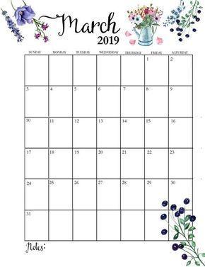 Cute March 2019 Calendar Useful Tips Pechatnye