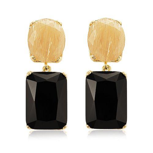 Blanc Perle Acessórios Brinco Cristal Negro Pretty earrings