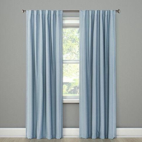 Aruba Blackout Curtain Panels Threshold Blue Curtains Living