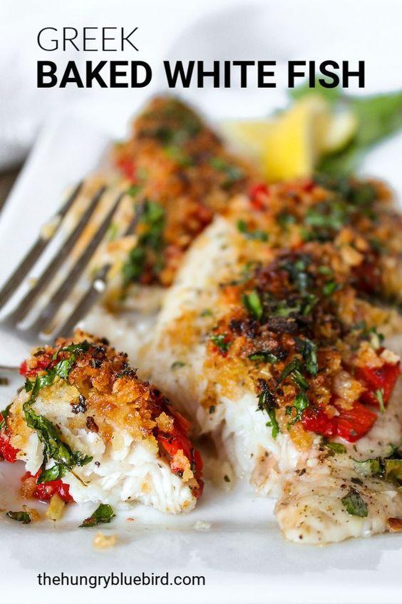 Greek Baked White Fish {Greek Church Luncheon Recipe}