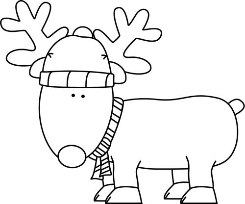 Clip Art Reindeer Clipart Black And White clip art black and white christmas reindeer and