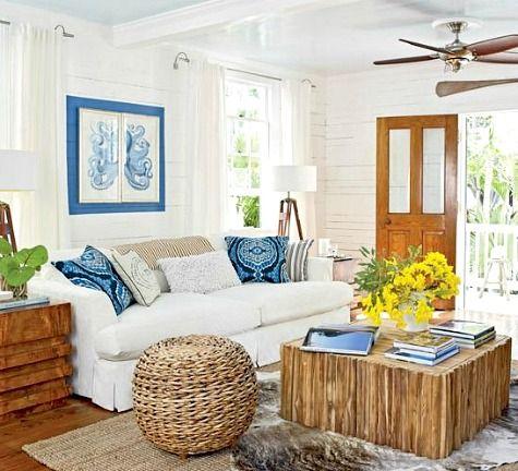 12 Small Coastal Beach Theme Living Room Ideas With Great Style   Livin A  Beachie Life   Pinterest   Cottage Living Rooms, Coastal Cottage And Living  Room ...