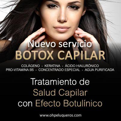 Botox Capilar, servicio exclusivo de Oh! Peluqueros ¿Para