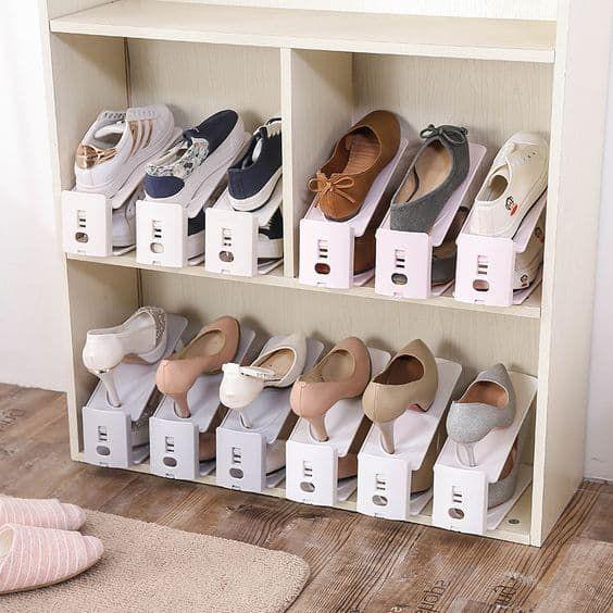 16 Ideas Creativas Para Guardar Y Organizar Tus Zapatos Organizador De Zapatos Como Organizar Zapatos Organizacion Zapatos
