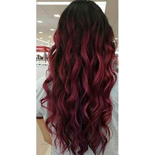 Pin By Ugeathairextensions On Ugeat Tape In Hair Extensions Human Hair Extensions Burgundy Hair Brown Ombre Hair Color