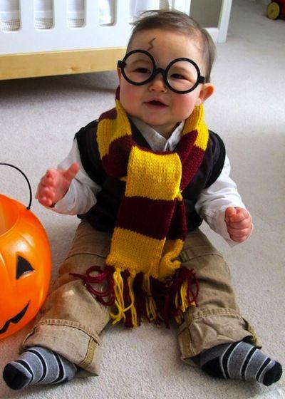 Disfraz bebé harry potter casero: