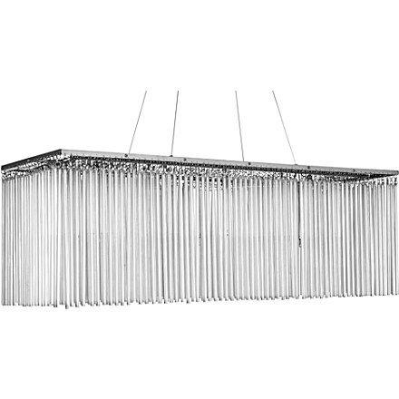 corfu glass rod rectangular pendant light lighting