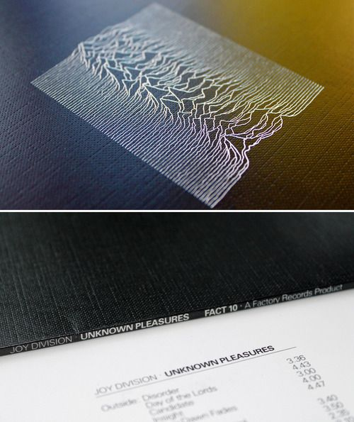 FACT 10: Joy Division, Unknown Pleasures sleeve, designed by Peter Saville, 1979 via
