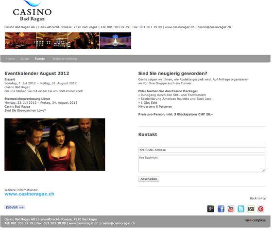 Casino, Bar, Roulette, Texas Holdem Poker, Eventveranstalter, Events