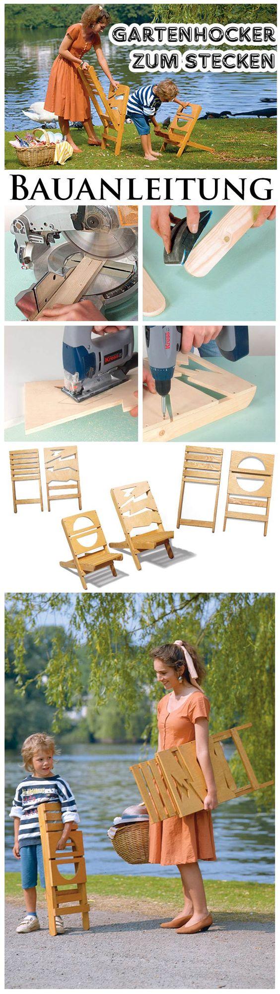 klappstuhl mal anders diese klappst hle sind zum stecken wir zeigen wie man die hocker f r. Black Bedroom Furniture Sets. Home Design Ideas