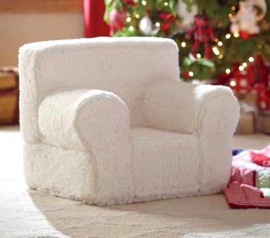 Cream Sherpa My First Anywhere Chair® | Pottery Barn Kids