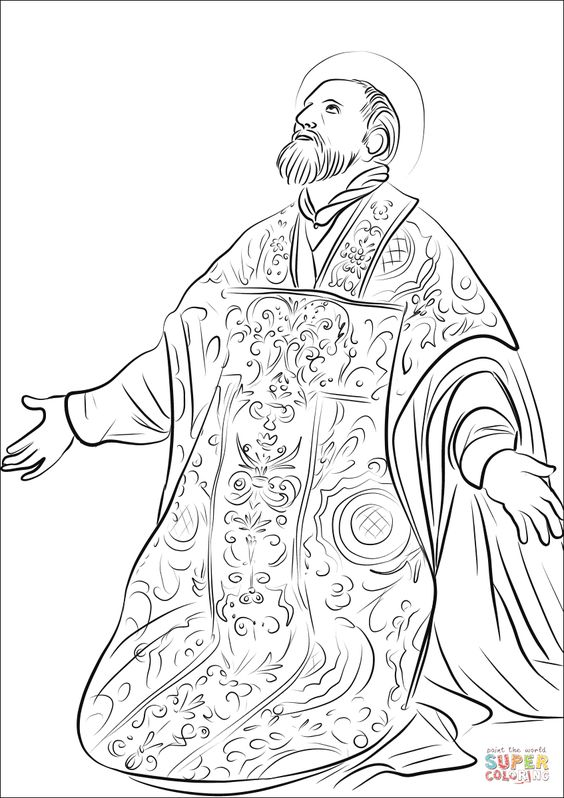 Philip And The Ethiopian Coloring Page | 101 Coloring Pages