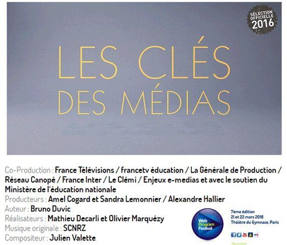 Jusqu'au 22 mars votez @WebProgram_Fest catégorie Web-Éducation jeunesse : #laclédesmédias