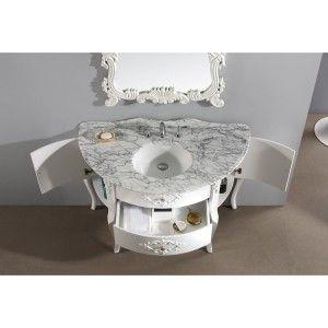 white bathroom vanity abigail